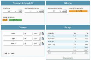 Våran DIY e-juice calculator